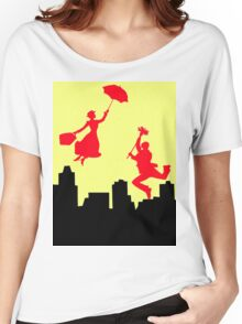 Mary poppins in the yellow sky  Women's Relaxed Fit T-Shirt
