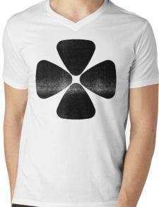 Four Leaf Clover - Black Mens V-Neck T-Shirt