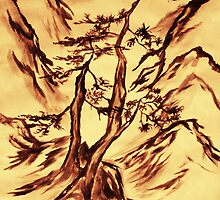 Traditional Japanese Landscape   by Reira  Henderson