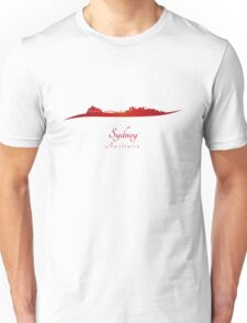 Sydney skyline in red Unisex T-Shirt