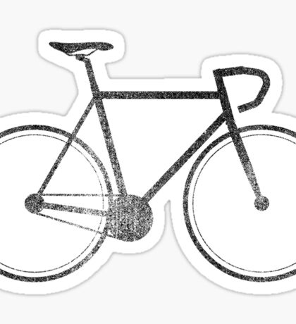 Fixie - Black Sticker