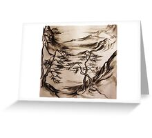 Traditional Japanese Landscape2 Greeting Card