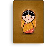 Kokeshi - Hindu Bride Canvas Print