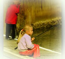 Fishing is soooooooooo boring. by john NORRIS