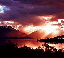 Lake Te Anau. South Island, New Zealand. (2)  by Ralph de Zilva