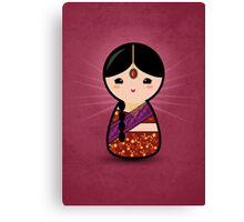 Kokeshi - Hindu Girl Canvas Print