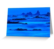 Twilight at Rialto Beach Greeting Card