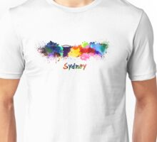 Sydney skyline in watercolor Unisex T-Shirt