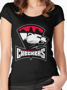 Charlotte Checkers Women's Fitted Scoop T-Shirt