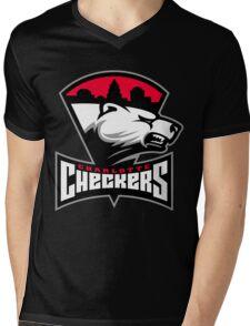 Charlotte Checkers Mens V-Neck T-Shirt