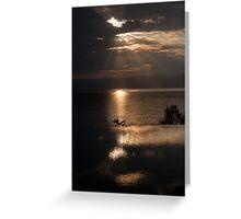 Cloud Break on the Dead Sea Greeting Card