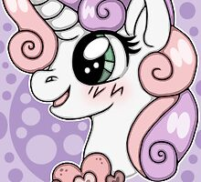 Sweetie Belle Print by HappyKittyShop