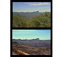 The Warrumbungles ... before and after Photographic Print