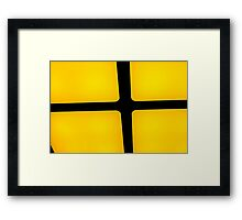 rubix in yellow Framed Print