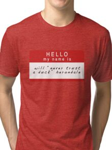 The Infernal Devices: Will's Name (Ver 1) Tri-blend T-Shirt