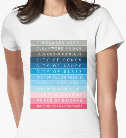 Cassandra Clare: Titles Womens Fitted T-Shirt