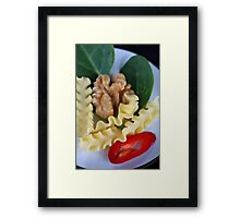 Reginette, Spinach, Walnut and Spicy Italian Dreams Framed Print