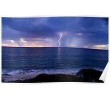 Storm of Burns Beach W.A. Poster
