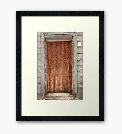 old wooden door Framed Print
