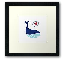 Cute whale Framed Print