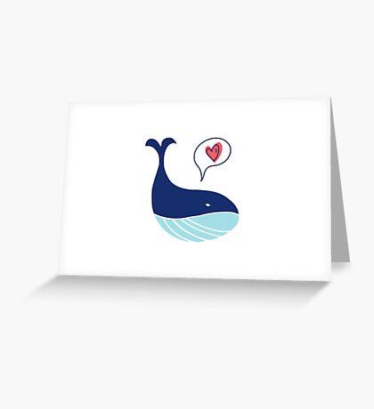 Cute whale Greeting Card