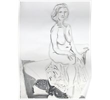 Life Drawing in Ink Poster