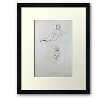 Life Drawing Terry Framed Print