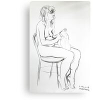 Life Drawing Violin Canvas Print