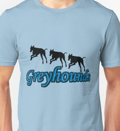 Trio Of Leaping Greyhound Silhouettes Unisex T-Shirt