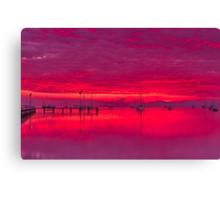 """Corio Twilight Reflections"" Canvas Print"