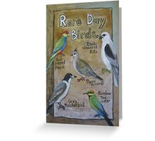 Rare Day Birds Greeting Card