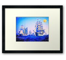 blue voyage to serenity Framed Print