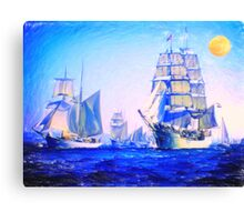 blue voyage to serenity Canvas Print
