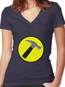 Captain Hammer Logo  Women's Fitted V-Neck T-Shirt