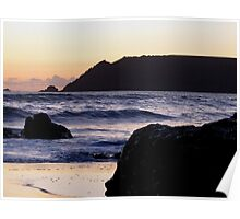 South Devon Gara Rock To Bolt Head Salcombe Autunm Sunset Poster