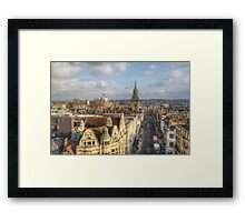 Oxford High Street Framed Print