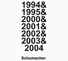 Schumacher Years (black text) by Tom Clancy