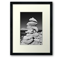 Stone tower, Halki island Framed Print
