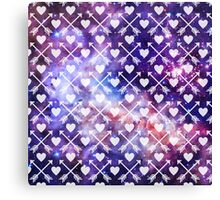 Galactic Tribal Hearts and Arrows Canvas Print