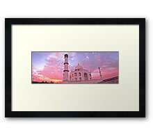Taj Mahal Pink Sunset Framed Print
