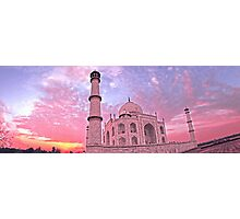 Taj Mahal Pink Sunset Photographic Print