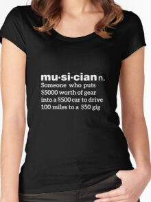 Musician Humorous Definition Women's Fitted Scoop T-Shirt