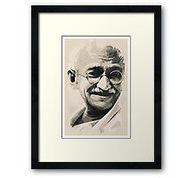 Ghandi smile Framed Print