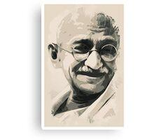 Ghandi smile Canvas Print