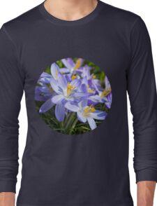 Crocus Flowers Long Sleeve T-Shirt