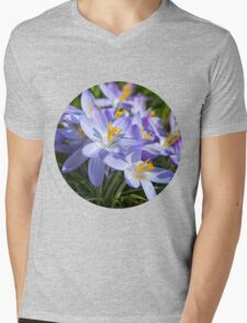 Crocus Flowers Mens V-Neck T-Shirt