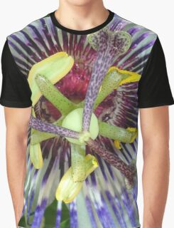 Passion Flower Close Up Graphic T-Shirt