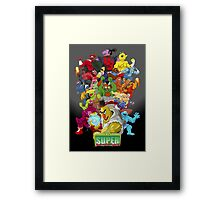 Super Sesame Street Fighter Framed Print