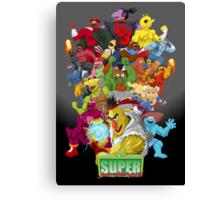 Super Sesame Street Fighter Canvas Print