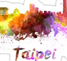 Taipei skyline in watercolor Sticker